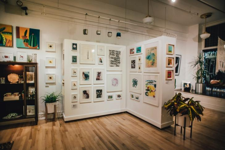 Interior of Light Gallery and Studio in Grand Rapids
