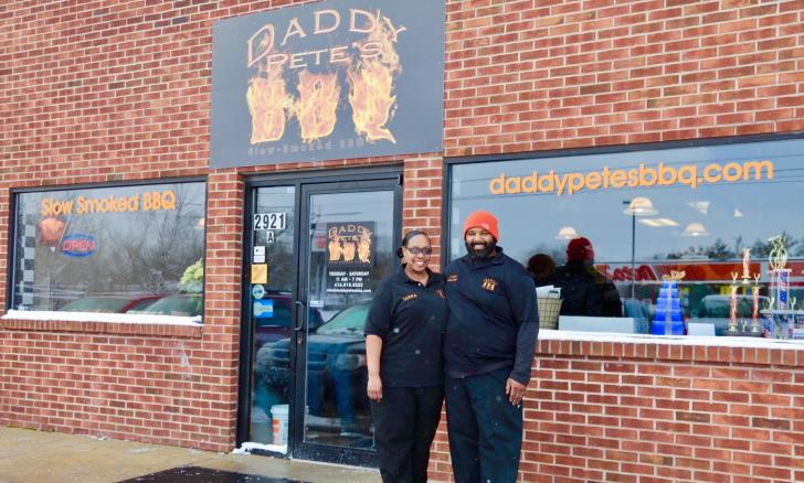 Cory and Tarra Davis, owners of Daddy Pete's BBQ in Grand Rapids