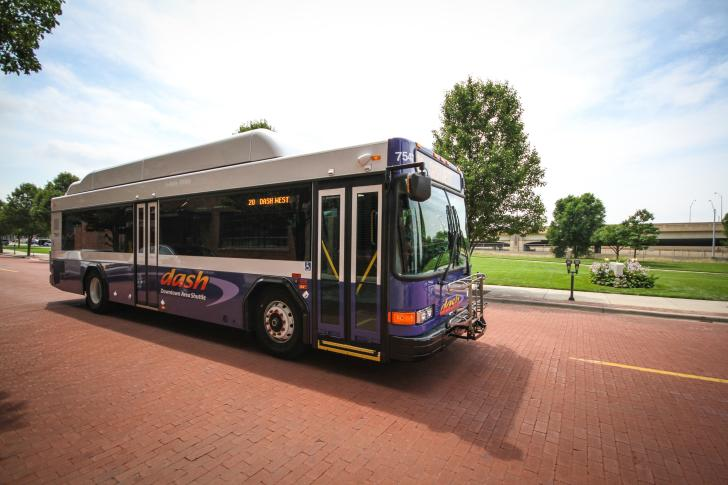 DASH (Downtown Area Shuttle) bus in Grand Rapids