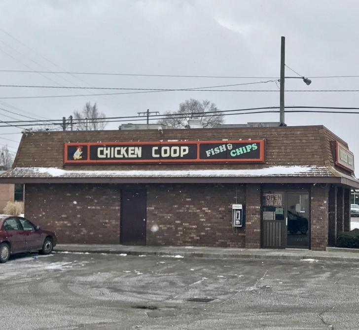 Exterior of Chicken Coop in Grand Rapids, Michigan