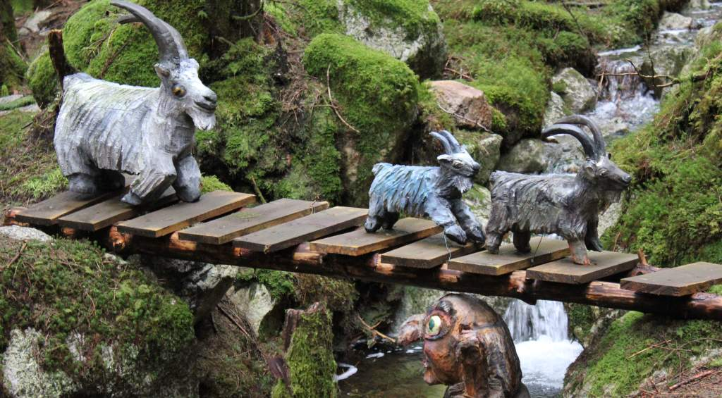 troll riding a goat the fairytale forest