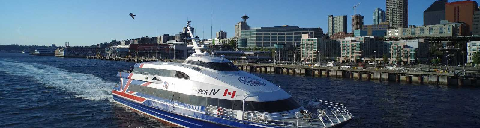 Year-Round Departures direct from downtown Seattle to Victoria