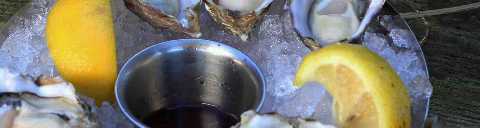 Oysters and White Wine by Celeste Stubner
