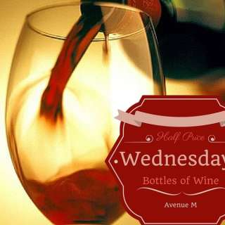 Half Price Bottles of Wine Every Wednesday!