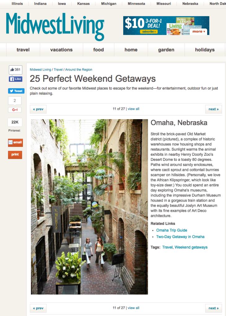 Midwest Living - 25 Perfect Weekend Getaways