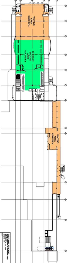 Map of Cruise Terminal 21  second floor layout