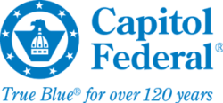 "Capitol Federal logo ""True Blue for over 120 years"""