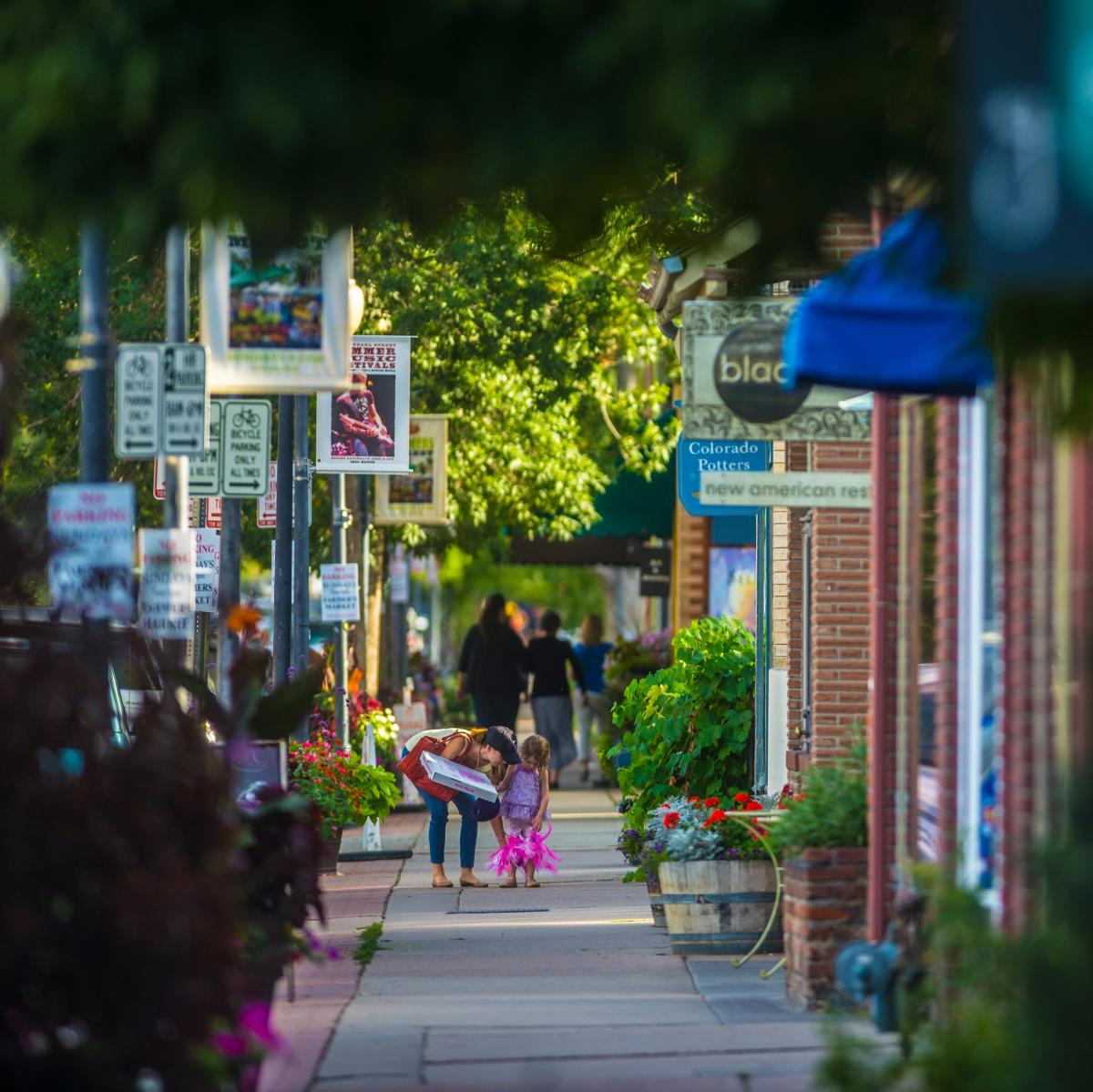 Old South Pearl Street shoppers