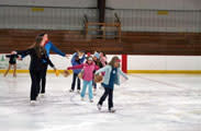 Youth indoor ice skating lessons in Wisconsin
