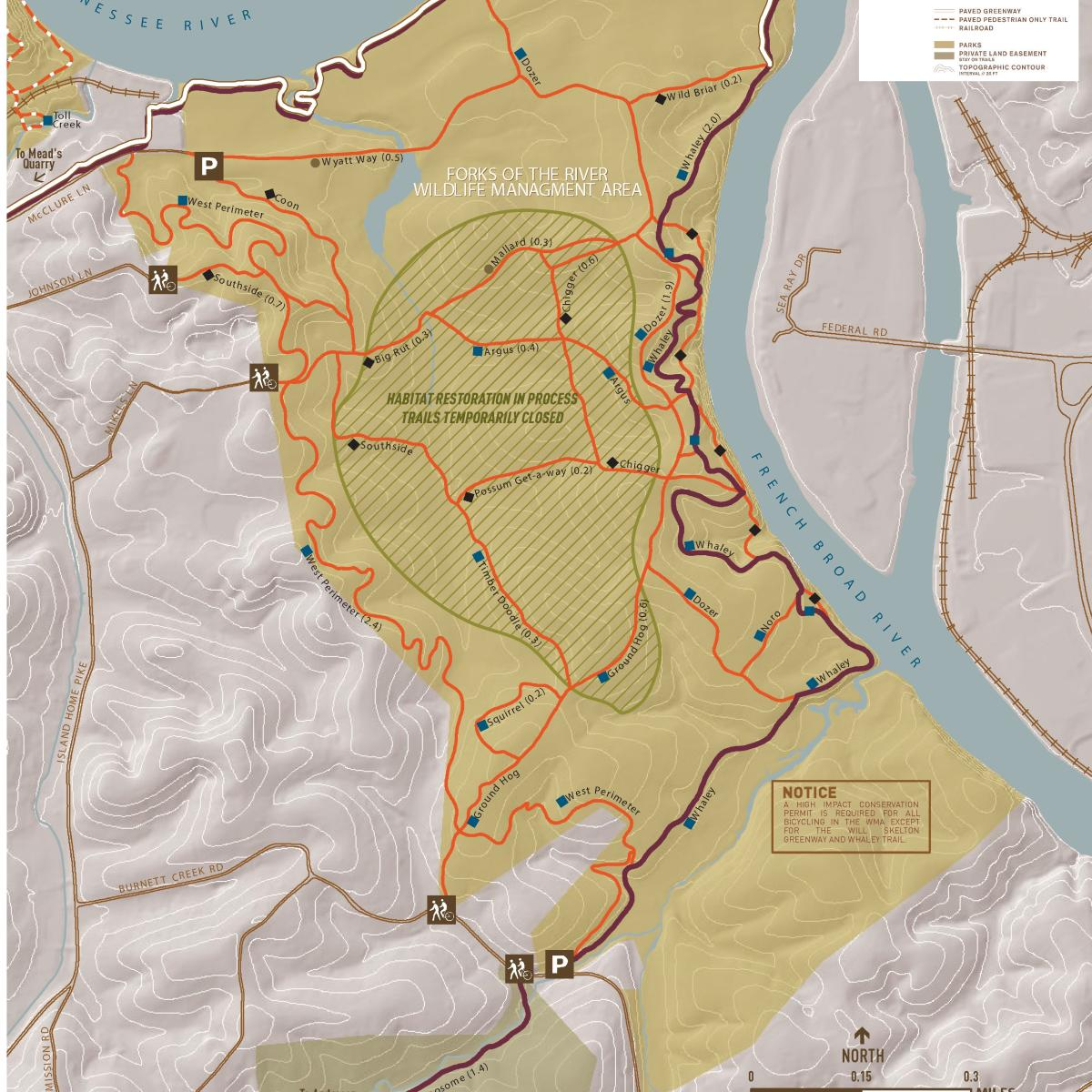 Forks of the River Map