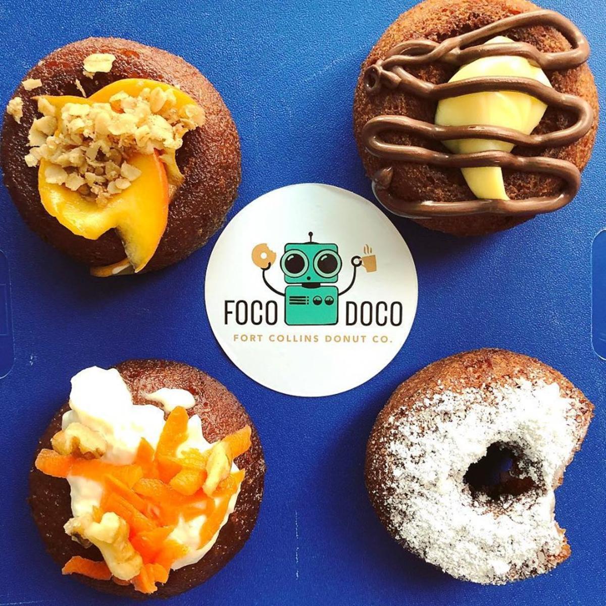 FoCo DoCo donuts and sticker