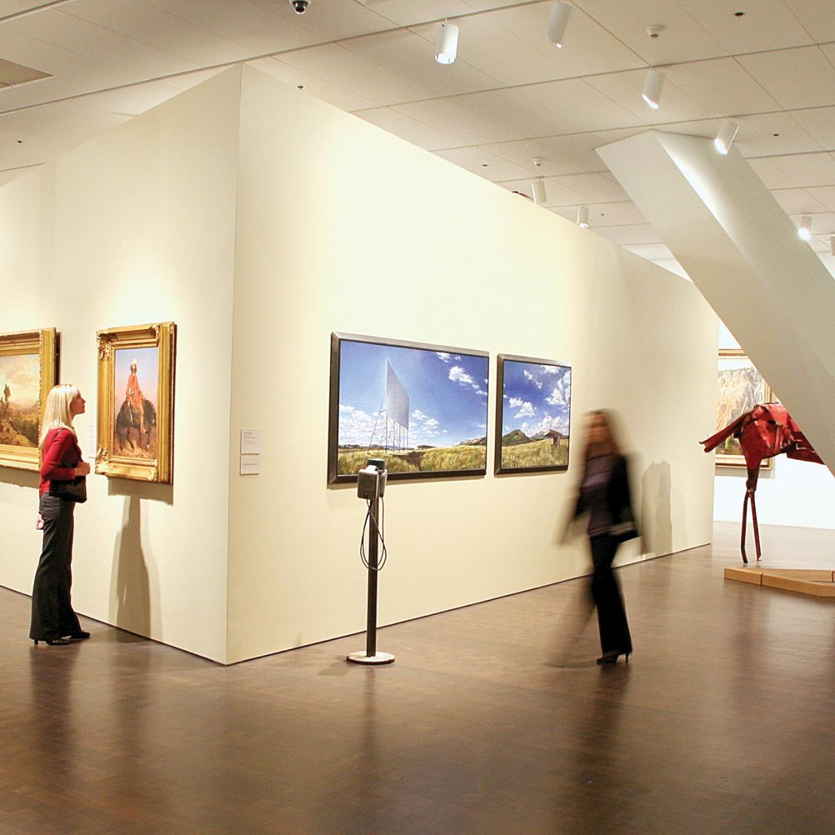A gallery at the Denver Art Museum