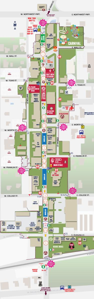 Main Street Fest Map
