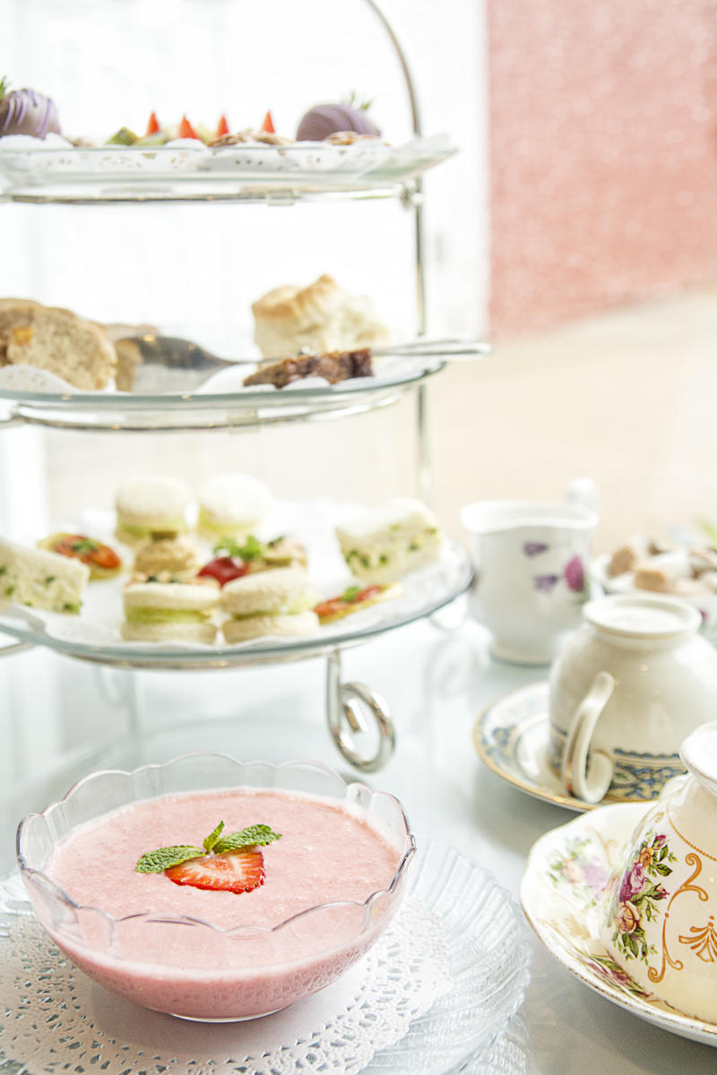 Biscuits, tea and pastries at Serenity Tearoom