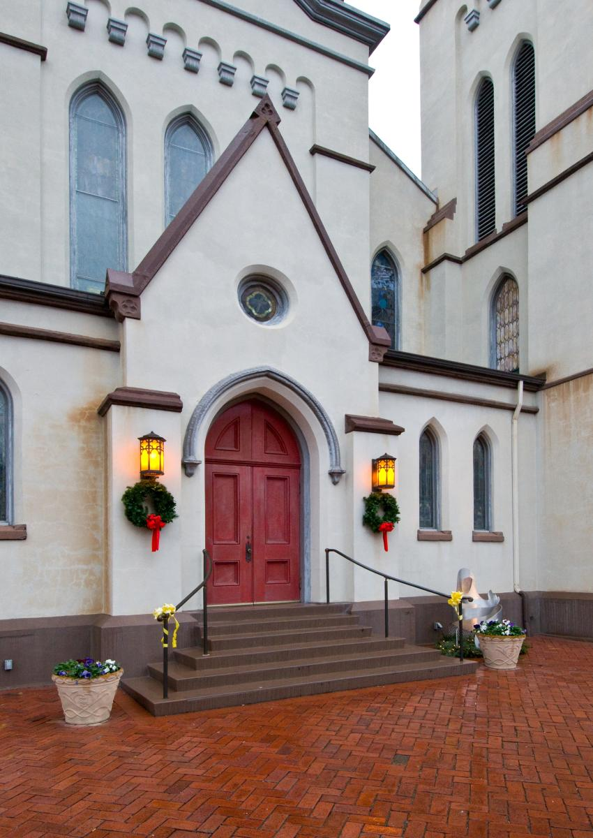 Front of the Evangelical Lutheran Church Exterior