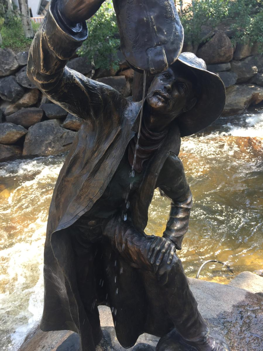Estes Park Bronze Sculpture - Cowboy in the River