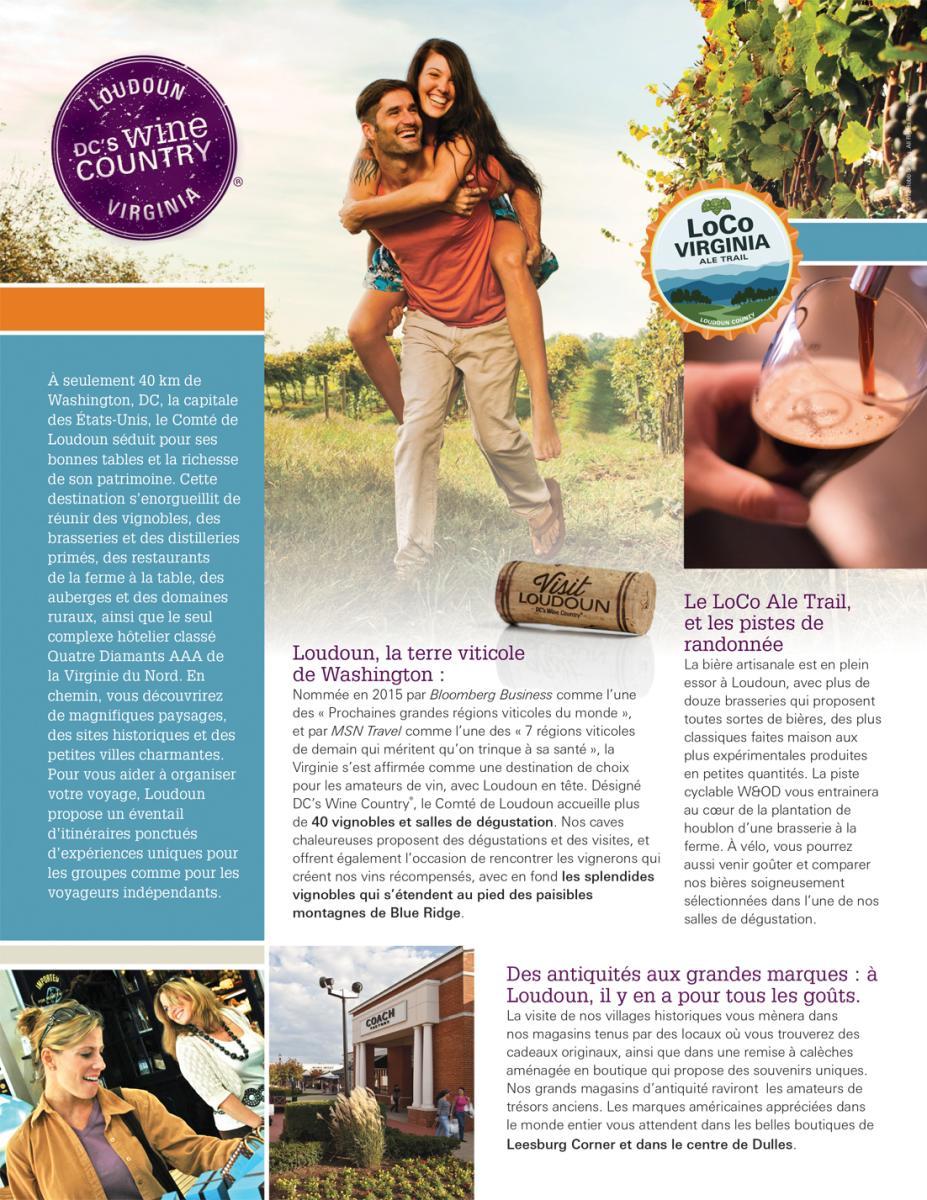 Visit Loudoun French Profile Sheet Front