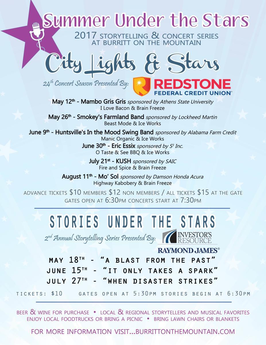 Summer Under the Stars at Burritt Flyer 2017