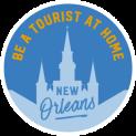 Be a Tourist Logo Blue