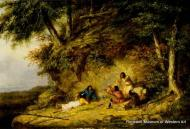 Image Credit: Cornelius D. Kriefhoff, The Storyteller, c. 1855-1860, Oil on canvas, 12 1/8 x 18 x 18 ¼ in. Museum purchase 78.951.F