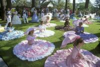 Azelea Belles on Lawn