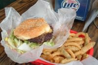 Cheeseburger and fries from Lankford Grocery in Houston