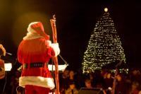Santa overlooking the Jekyll Island Christmas Tree Lighting Festival