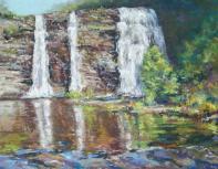Salmon River Falls, in Altmar, NY as painted by artist, Debra M. Abbott.