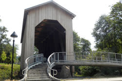 Chambers Railroad Covered Bridge by Molly Blancett