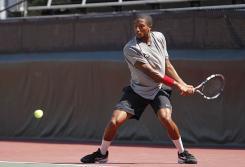 UGA Men's Tennis action shot