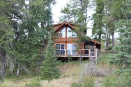 Log cabin at High Lake Eco Cabin