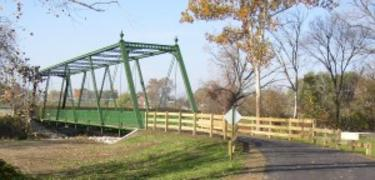 Historic bridge along the White Lick Creek Trail in Plainfield.