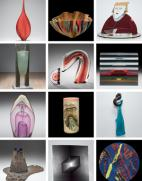 A selection of objects from Voices of Contemporary Glass