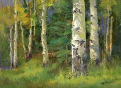 Cecy Turner Painting - First Signs of Fall