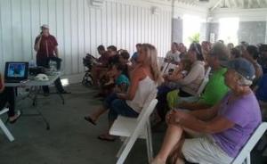 Turtle talk with Pleasure Island Sea Turtle Project Volunteer