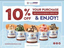 Sub Zero Ice Cream coupon