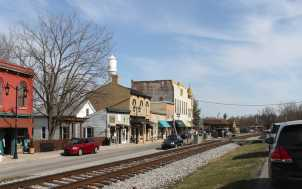 Historic Railroad Street; Midway, KY