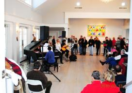 A performance at Sparkling Pointe Winery in Southhold