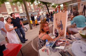 Plein Air Artists during the Short North Gallery Hop