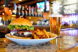 Burger at Metro Bar & Grill
