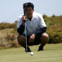 Sandpines Golf Links Golfer, Florence, Oregon Coast, by Julia Carr