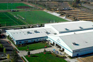 Willamalane Center for Sports and Recreation and its new fields (photo by Philip Bayles)