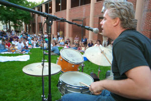 Acoustic on the Green Drummer