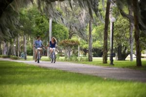 Biking in the Jekyll Island Historic District