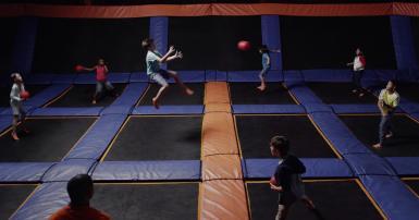 Sky Zone dodgeball