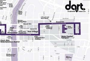 Dart D-Line Route Map