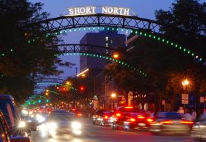 Illuminated Arches in the Short North Arts District