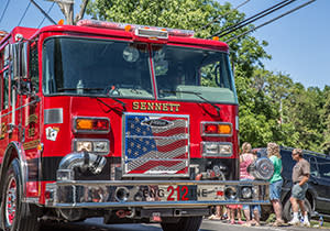 4th of July Parade at the Firemen Field Days