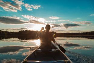 Canoeing at Riding Mountain National Park