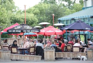 Patio at The Forks